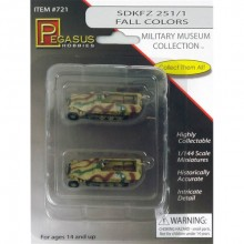 SdKfz 251/1 Fall Colors (qty 2) 1:144