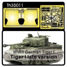 Tiger I Late Photoetch for Muffler Cover & Tool Buckles 1:35