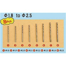 Drill Set 3 (8 pcs Dia1.8 to Dia2.5mm)