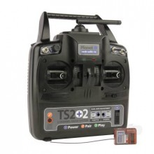 TS2+2 2.4GHz 2-Channel Stick Transmitter with 2 Aux Channels with 6-channel Rx
