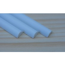 Plastic Half Round Rods 6.40mm x 250mm 5 pieces