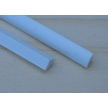 Plastic Quarter Round Rods 0.75 x 250mm 10 pieces