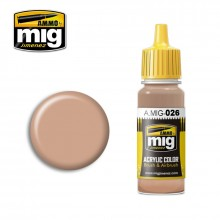 Ammo Mig Jimenez Acrylic 17ml Paint RAL 8031 F9 GERMAN SAND BROWN