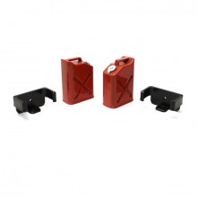 Racers Edge 1/10 Plastic Fuel Cans (2) - Red