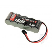 Superpax Battery, 2/3A 6V 5-Cell 1600mAh NiMH, SBS-Flat, Rx-JR