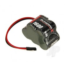 Superpax Battery 2/3A 6V 5-Cell 1600mAh NiMH 3-2 Hump Rx-JR