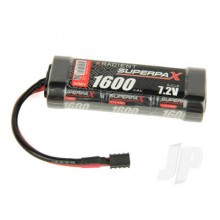 Superpax Battery, 2/3A 7.2V 6-Cell 1600mAh NiMH, Stick, HCT