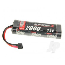 Superpax Battery SC 7.2V 6-Cell 2000mAh NiMH Stick HCT