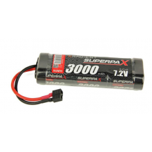 Superpax Battery, SC 7.2V 6-Cell 3000mAh NiMH, Stick, HCT