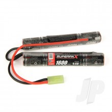 NiMH 9.6V 1600mAh 2/3A Saddle-Stick, mTam