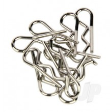 Body Clips Sandard Bent Silver