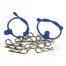 Body Clips  with Blue Retainers (2)