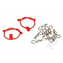 Body Clips  with Red Retainers (2)