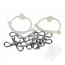 Body Clips  with White Retainers (2)