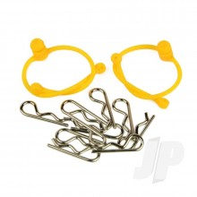 Body Clips  with Orange Retainers (2)