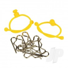 Body Clips  with Yellow Retainers (2)