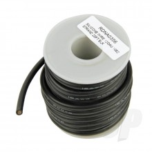 Silicone Wire 12ga 1062 Strand 25ft Black