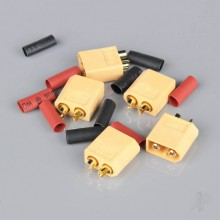 XT60 Male including Heat Shrink (ESC End) (5pcs)