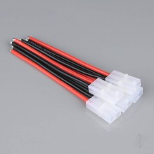 Pigtail Connector Tamiya Female 14AWG 100mm (Battery End) (5pcs)