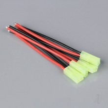 Pigtail Connector Mini Tamiya Female 16AWG 100mm (5pcs)