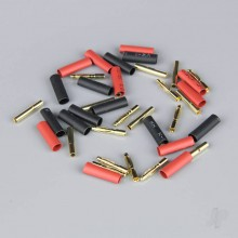 2mm Gold Connector Pairs including Heat Shrink (10pcs)
