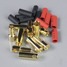 5.5mm Gold Connector Pairs including Heat Shrink (5pcs)