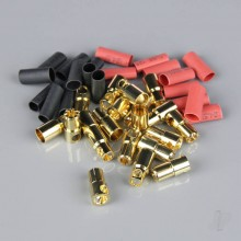 6.0mm Gold Connector Pairs including Heat Shrink (10pcs)