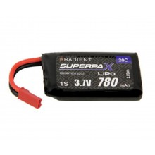 Radient LiPo 1S 780mAh 3.7V 20C JST (Shadow old part number AZSQ1805)