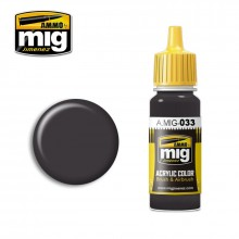 Ammo Mig Jimenez Acrylic 17ml Paint RUBBER & TIRES