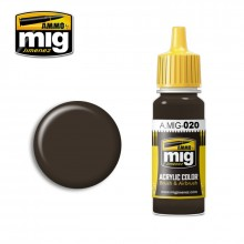 Ammo Mig Jimenez Acrylic 17ml Paint 6K RUSSIAN BROWN