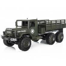 Funtek CR6 1/16th 6WD Military RTR Truck (Olive Green)