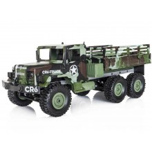 Funtek CR6 1/16th 6WD Military RTR Truck (Camouflage)