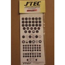 JTEC Scale Instrument Kit 1/7 Scale - Black and White1/