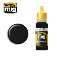 Ammo Mig Jimenez Acrylic 17ml Paint SATIN BLACK