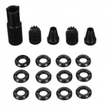 Remote Control Switch Nut & Anti-Skid Joystick set Black