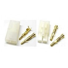 GForce Tamiya style connector with gold plated pins - 2 pairs