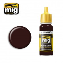 Ammo Mig Jimenez Acrylic 17ml Paint SHADOW RUST