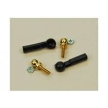 1 Pair of Mini Nylon Cup Ball Link M2 threaded ball for M2 rod 20mm Long complete with nuts.