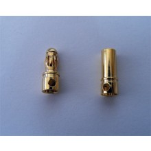 Gold Bullet Connectors 3.5mm 10 pairs