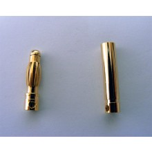 Gold Bullet Connectors 4mm 2 pairs