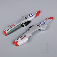 Fuselage Unglued (Painted) (P-51)