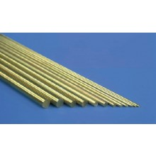 K&S Metal MKS-8164 (1) Solid Brass Rod 1/8 x 12 Inch