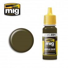 Ammo Mig Jimenez Acrylic 17ml Paint SPANISH GREEN-KHAKI