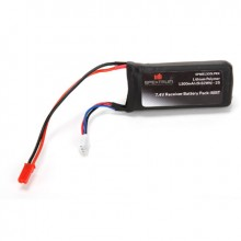 7.4V 1300mAh 2S 5C LiPo Rx Pack w/JST Connector
