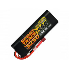 3250mAh 2S 7.4v 55C LiPo Battery in Hard Case - Overlander Sport Track