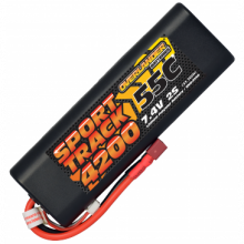 4200mAh 2S 7.4v 55C LiPo Battery in Hard Case - Overlander Sport Track