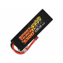 5300mAh 2s 55c Lipo Hard Case Battery