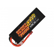 7600 2s 55c Lipo Hard Case Battery