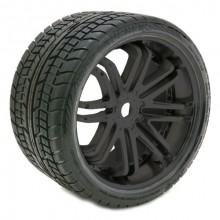 SWEEP ROAD CRUSHER BELTED TYRE BLACK 17MM WHEELS 1/4 OFFSET