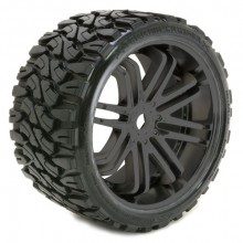 SWEEP TERRAIN CRUSHER BELTED T YRE BLACK 17MM WHEELS 1/4 OFFS